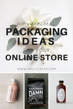 Hip + Minimal Packaging Ideas for Your Online Store   hollycasto.com