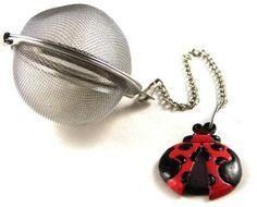 Tea infuser with Ladybug charm