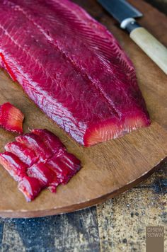 Beetroot and Gin Cured Salmon with Wholemeal Blini | Chew Town Food Blog