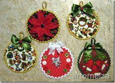 ARTEMELZA - Arte e Artesanato: Enfeite de Natal – reciclando CD   Christmas ornament - recycling CD