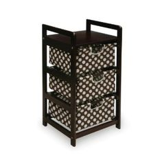 Badger Basket Three Drawer Hamper/Storage Unit, Espresso/Brown: Amazon.ca: Baby cloth diaper storage? too cute!!