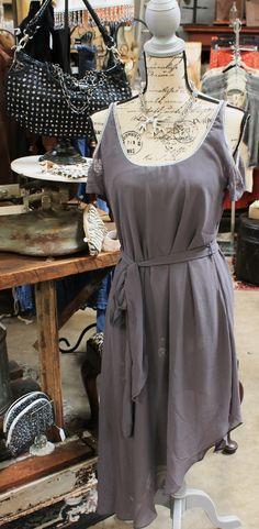 Cold shoulder grey dress $36.95
