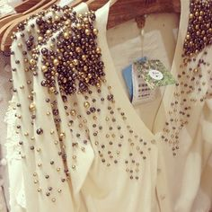Love the beads on this blouse!