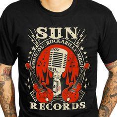 Sun Records Men's Rockabilly Music T-Shirt $30