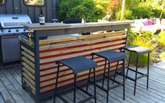 Outdoor Lounge, Outdoor Pool, Outdoor Spaces, Outdoor Decor, Bbq Kitchen, Summer Kitchen, Outdoor Barbeque, Pergola, Garden Bar