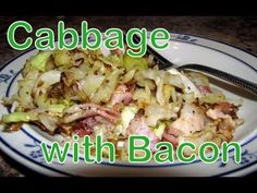 Atkins Diet Recipes:  Low Carb Cabbage and Bacon (IF)