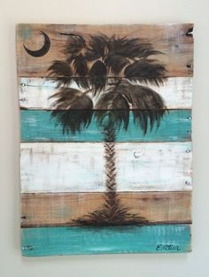 SC Palmetto Tree Palm Tree Wall Art Available in by RefurBarista