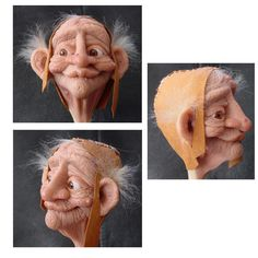sculpting heads and masks of polymer clay. Link heavy, pictureless page... but I assume the links are worth following. Don't have time to check that now, but if you do, and find the page good and interesting, good! :-)