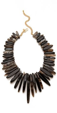earthy Kenneth Jay Lane statement necklace