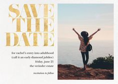 Paperless Post - Vintage Book Save the Date (Photo) - Gold by kate spade new york