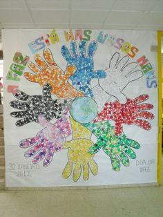 2018 Murales para 30 de Enero. Día Escolar de la Paz y la No Violencia - Imagenes Educativas