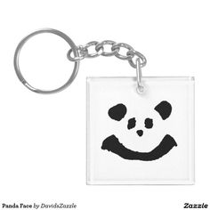 Panda Face Key Chain  Available on more products! Type in the name of the design in the search bar on my Zazzle Products Page. Thanks for looking!   #key #chain #keychain #car #accessory #auto #motive #zazzle #buy #sale #cute #cuddly #panda #bear #cartoon #illustration #black #white #drawing #nature #planet #earth #animal #friend