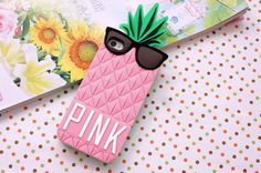 Victoria's Secret Pineapple Silicone Case Cover for Apple iPhone 4 4S Pink | eBay
