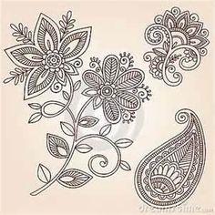 Stock Images Henna Tattoo Flower Doodle Vector Design Elements Image