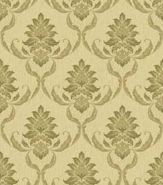 Ultra Heavyweight Vinyl - VivianiBeige/Gold Decor, Damask, Gold Damask Wallpaper, Vinyl Wallpaper, Wallpaper, Vinyl, Home Decor, Damask Wallpaper, Beige