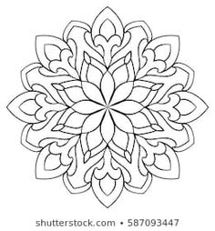 Vector simple mandala with abstract elements, isolated on white… Ornamental simple mandala. royalty-free ornamental simple mandala stock vector art & more images of coloring book Mandala Design, Mandala Pattern, Mosaic Patterns, Pattern Art, Adult Coloring Pages, Mandala Coloring Pages, Colouring Pages, Coloring Books, Mandala Arm Tattoo