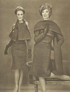 Models by Marc Bohan for Christian Dior.French Vogue, September 1961.