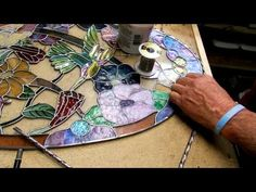 Dichroic Stained Glass soldering 001h