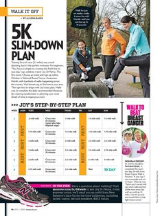 5k slim down plan