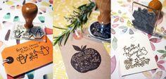 Personalised Hobby Stamps for gardeners from Bloomfield & Rolfe #giftsforgardeners #bloomfieldandrolfe #flowerstamp #applestamp #apple #wateringcandesign #personalisedstamps