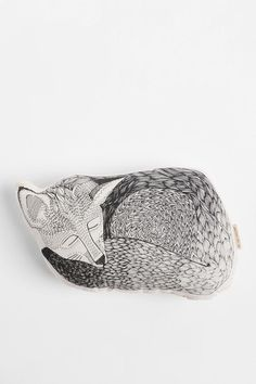 "The Rise and Fall Sleeping Fox Pillow  #UrbanOutfitters  For a ""forest"" room look."