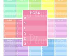 Meal planning stickers Printable planner stickers Meal planner stickers Daily Meal stickers Daily Stickers Dinner Stickers Diet stickers by EnjoyPlanning on Etsy