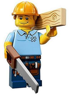 LEGO Minifigures Series 13 Carpenter Construction Toy: Get your hands on the exciting Series 13 minifigure and accessory! Lego Minifigure, Lego Ninjago, Lego City, Phineas, Construction Lego, Construction Worker, Lego People, Lego Man, Lego Lego