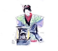 Virtual Memory, Makita, Korea, Japan, Drawings, Kimono, China, Fictional Characters, Geishas