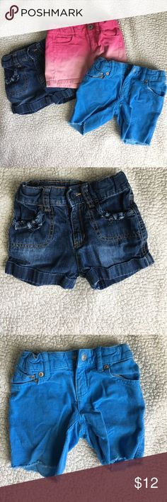 Girls Shorts Toddler shorts, size 3T, (Children's Place, Cherokee and Ralph Lauren). All in great condition, no stains or tears. All have adjustable waistbands. Bottoms Shorts