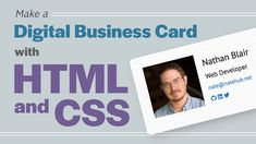 Code along with Web Developer, Nathan Blair and build a simple webpage for your personal brand with HTML and CSS. In this one-hour beginner level course, you'll...
