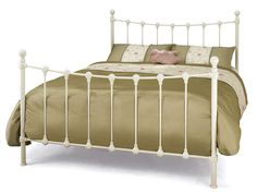 Serene Marseilles Small Double Ivory Metal Bed Frame, UK Express delivery, Order TODAY online or phone 0141 892 Superking Bed, Bed Mattress, White Metal Bed, Bed Frame Design, Ottoman Bed, Beds For Sale, Looks Chic, Metal Beds, King Beds