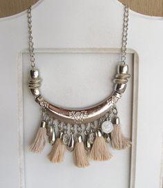 Collar Gipsy - Comprar en TARTARUGA accesorios Tassel Jewelry, Bohemian Jewelry, Beaded Jewelry, Jewelery, Silver Jewelry, Handmade Jewelry, Jewelry Necklaces, Chunky Bead Necklaces, Bijoux Diy