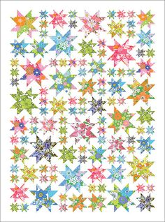 Look at all those stars!! A quilt along with tutorials for blocks etc.