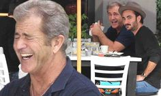 Mel Gibson is in stitches while grabbing lunch with silly pal