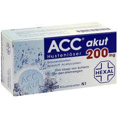 ACC akut 200 Hustenlöser und Schleimlöser Brausetabletten: Zur Schleimlösung und zum erleichterten Abhusten mit Wirkstoff Acetylcystein.…
