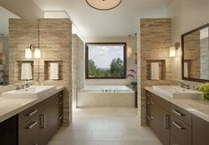 salle bain deco pierre