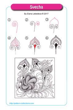 Doodle Patterns 415527503114466493 - Svecha by Elena Lebedeva Source by anneauvray Zentangle Drawings, Mandala Drawing, Doodles Zentangles, Doodle Drawings, Doodle Art, Easy Drawings, Zen Doodle Patterns, Zentangle Patterns, Art Patterns