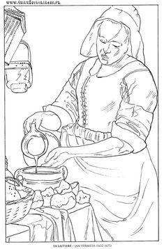 Jan Vermeer - La Laitiere