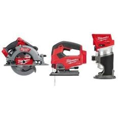Milwaukee M18 FUEL 18-Volt 7-1/4 in. Lithium-Ion Cordless Rear Handle Circular Saw Kit with 12.0 Ah Battery and Rapid Charger-2830-21HD - The Home Depot Circular Saw Jig, Cordless Circular Saw, Jig Saw Blades, Saw Tool, Milwaukee M18, Cordless Tools, Electronic Recycling, Led Work Light, Battery Sizes