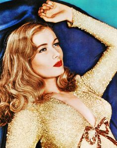 Veronica Lake in a simply incredible sequined gown.
