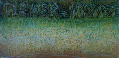 "Lidia Zdzieszyńska ""Plener"", olej na płótnie /""The open air"", oil on canvas/, 20x40cm"