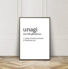 Unagi Definition Funny Printable Friends TV Show