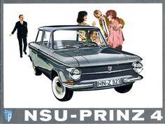 1961-73 / NSU Prinz 4  | 2,7° https://de.pinterest.com/yellowsprings79/golden-age-of-auto-ads/