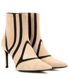 Balenciaga Anklebooties aus Veloursleder