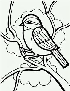 Bird Coloring Pages For Kids Printable - http://www.kidscp.com/bird-coloring-pages-for-kids-printable/?Pinterest