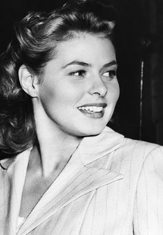 Ingrid Bergman on the set of Spellbound, 1945