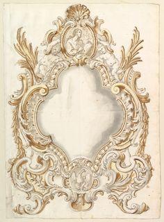 Anonymous, Italian, Roman, 18th century | Design for a Carta Gloria | The Met