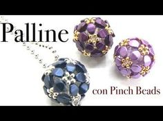 Tutorial spirale Chenille con perline - Come fare bracciale o collana con perline - Tecnica Chenille - YouTube