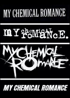 My chemical romance logos through the years<----Someone was a little drunk during Black Parade<< A little