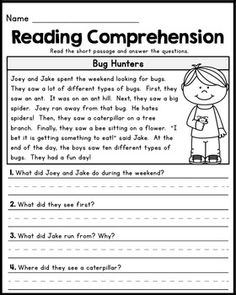 First Grade Readinghc Comprehension Passages - Set 1